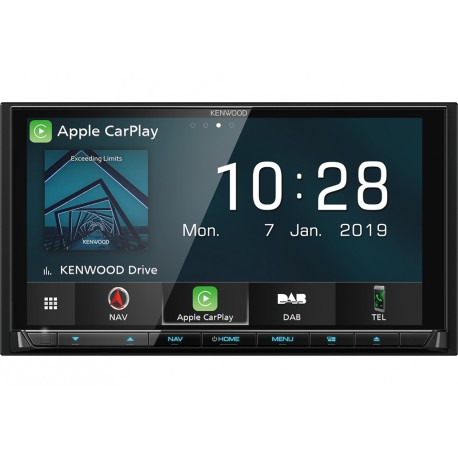 "Kenwood DNX9190DSE3 navigator 17.1 cm (6.75"") Touchscreen TFT Fixed Black 2.5 kg"