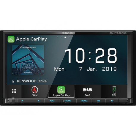 "Kenwood DNX7190DSE3 navigator 17.6 cm (6.95"") Touchscreen TFT Fixed Black 2.5 kg"