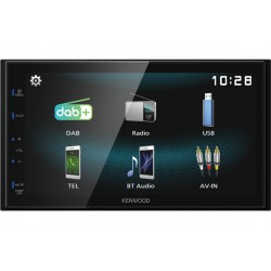 Kenwood DMX125DAB car media receiver Black 84 W Bluetooth