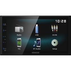 Kenwood DMX120BT car media receiver Black 84 W Bluetooth