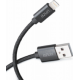 Azuri USB Sync- and charge cable - nylon - 50cm - USB Type A to Lightning-noir