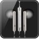 Huawei stereo headset - 3.5mm semi-in-ear - zwart