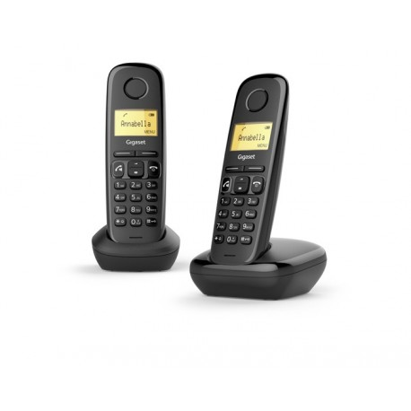 Gigaset A270 Duo DECT telephone Caller ID Black