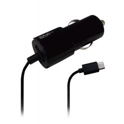 azuri chargeur voiture usb type c cable fix avec extra. Black Bedroom Furniture Sets. Home Design Ideas