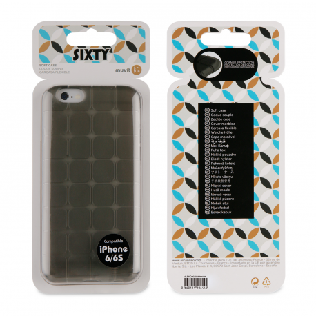 Muvit Life Sixty TPU case shockproof corners - black - for Apple 25497eb6dcb2c
