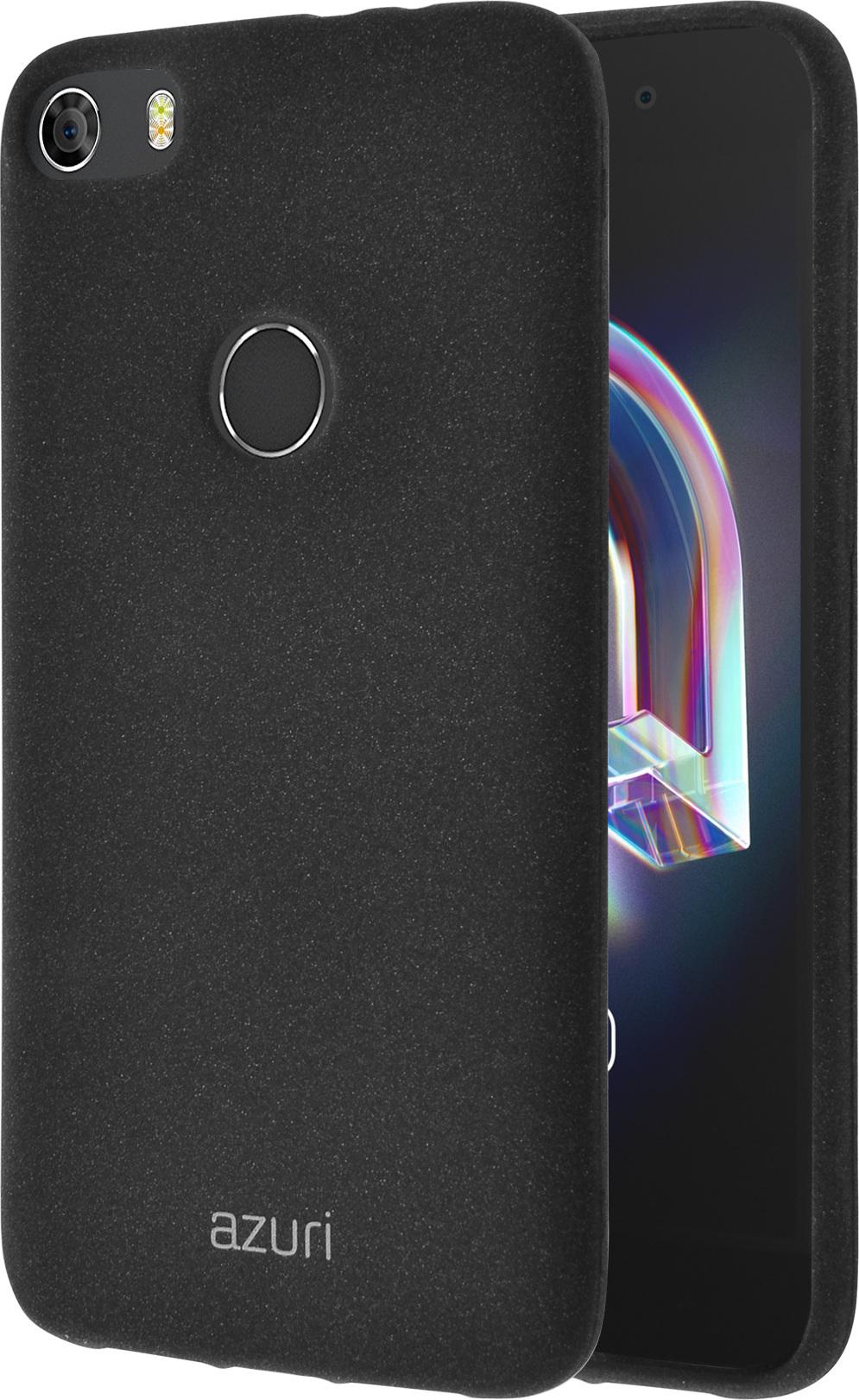 Azuri flexible cover with sand texture - black - Alcatel Idol 5